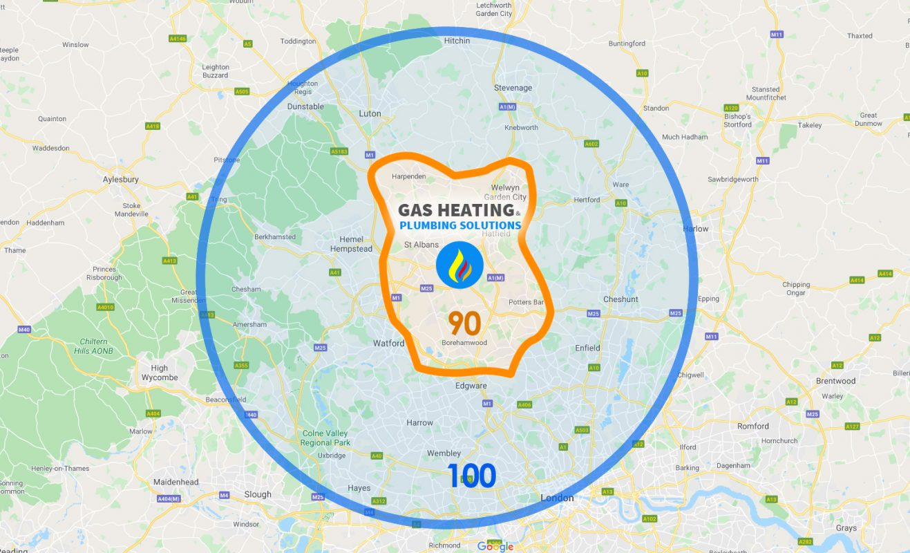 Areas in hertfordshire we cover
